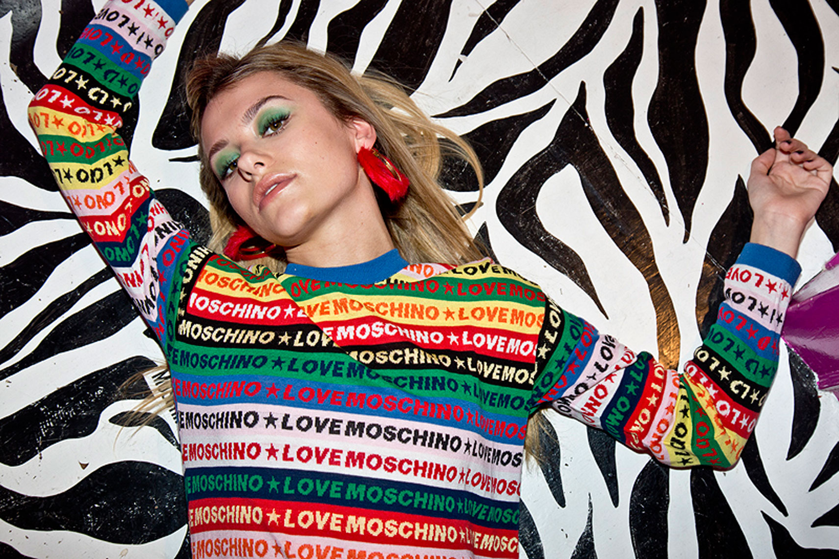 issie-gibbons-fashion-stylist-love-moschino-zebra