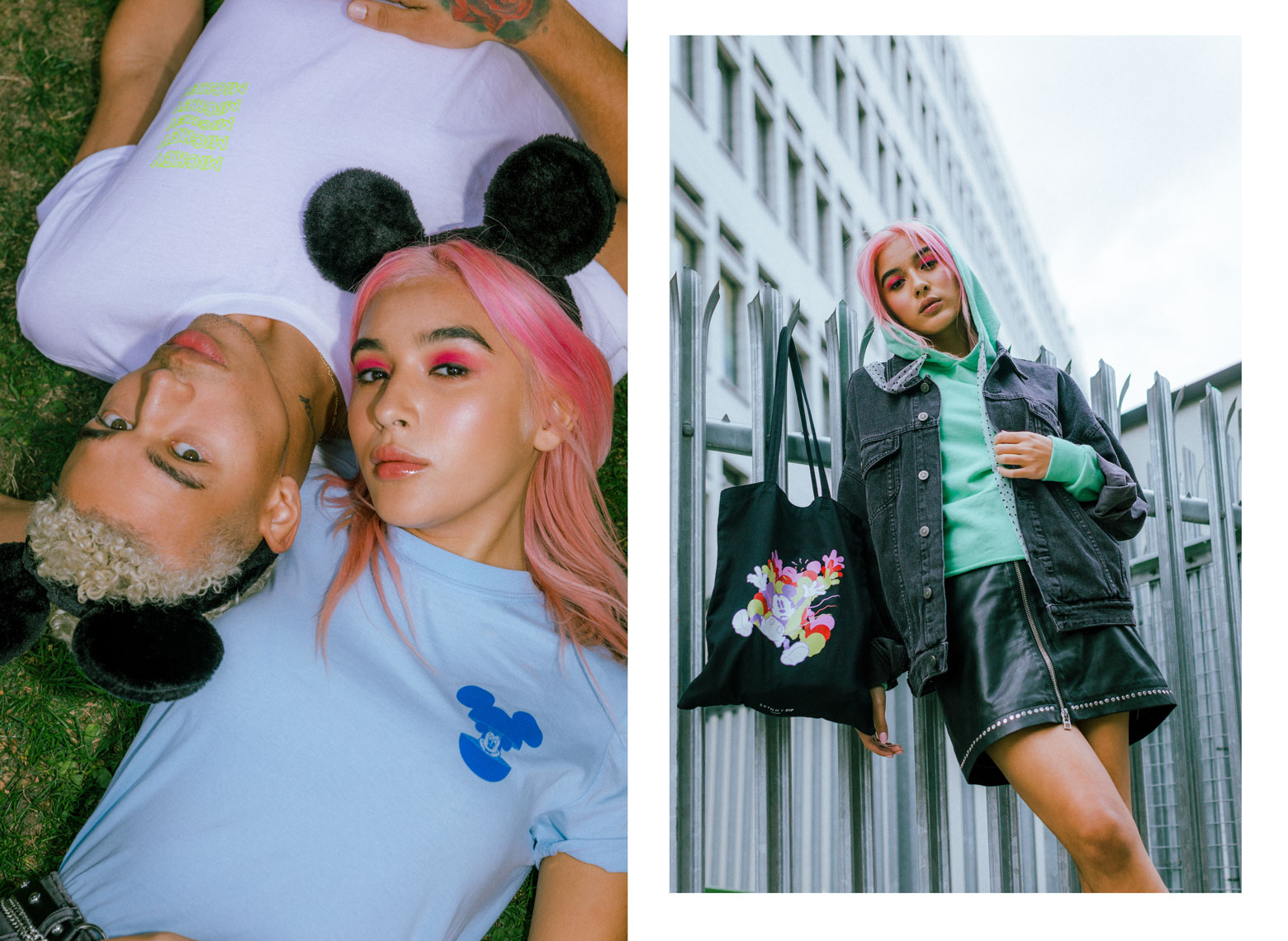issie-gibbons-fashion-stylist-skinnydip-disney-campaign-mickey-mouse-grunge
