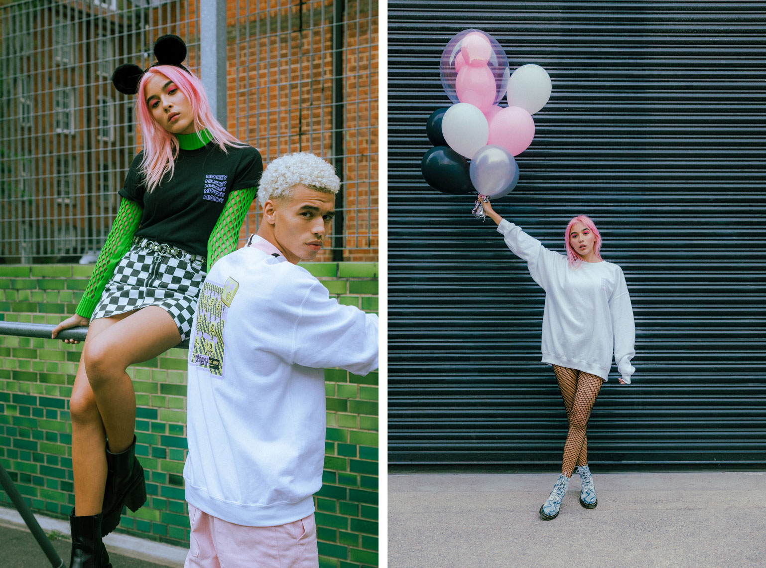 issie-gibbons-fashion-stylist-skinnydip-disney-mickey-skater-girl-boy-green-pink